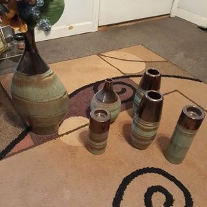 Other - Vases and candle holder set